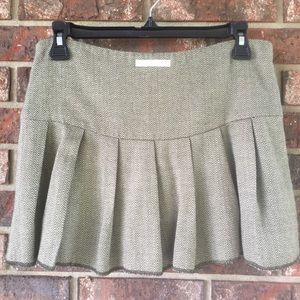 Abercrombie Tweed Pleated Skirt